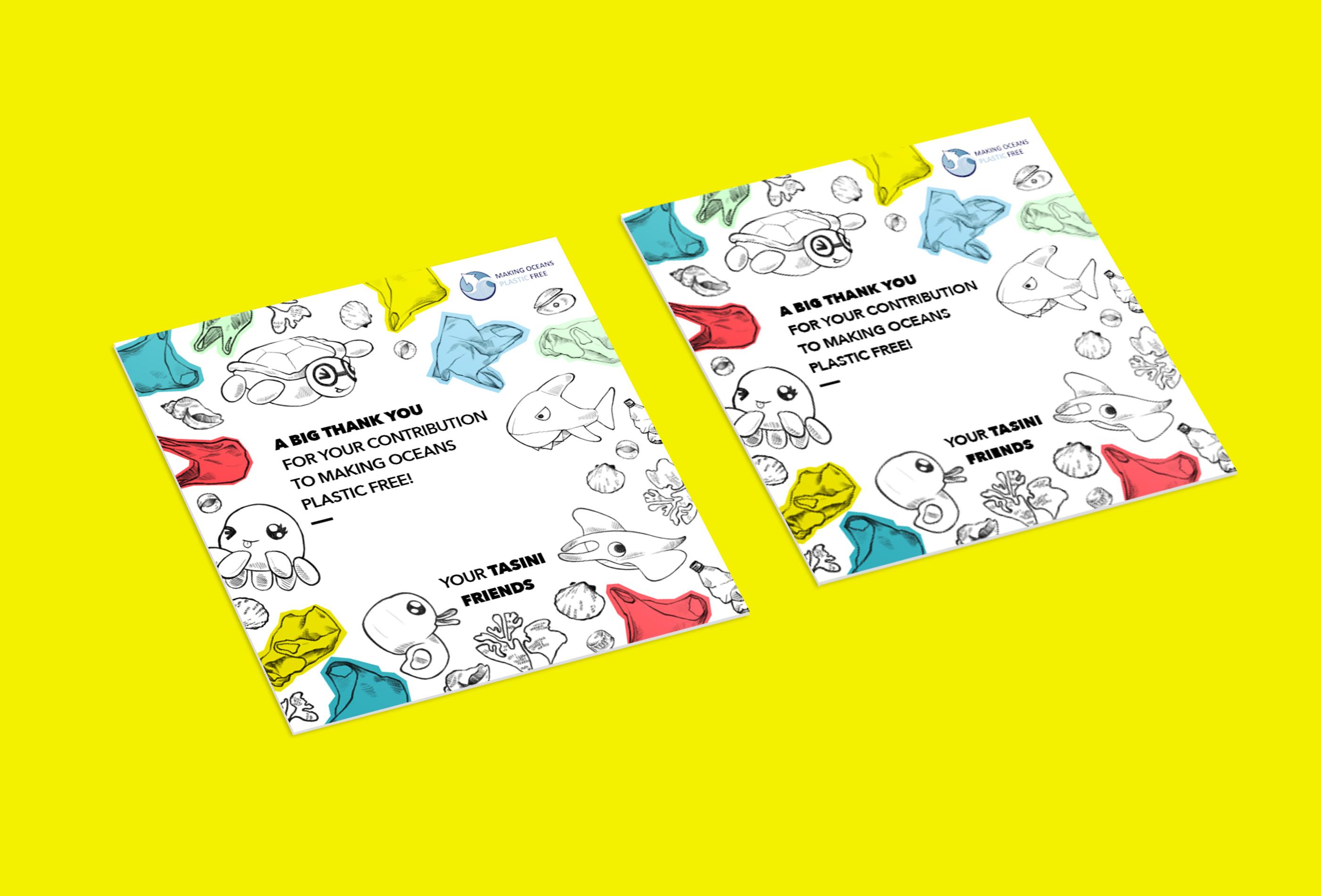 Making Oceans Plastic Free Dankeskarte